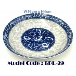 6.25inch ceramic plate-Blue and white porcelain W16cm*H4cm