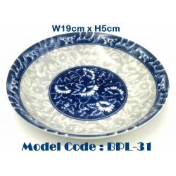 8inch ceramic plate-Blue and white porcelain W19cm*H5cm