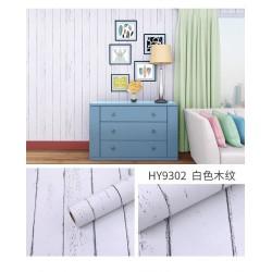 9302 White wood grain wallpaper 45*10meter