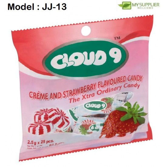 2.5g 25pcs Cloud9 Creme & Strawberry Candy