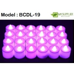 4.5*3.5cm+- LED pink candles