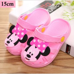 Children's cartoon anti-skid slippers baby mouse slippers 15cm