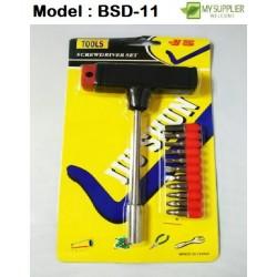 11pcs T Shape Screwdriver Set  L9cm x W16.5cm