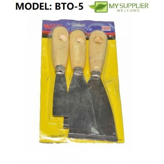 3pcs Putty Scrapper Drywall Scraper(7.5/5/3CM)