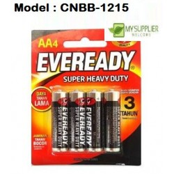 1215 4pcs Eve Super Heavy Duty AA Battery (Black)