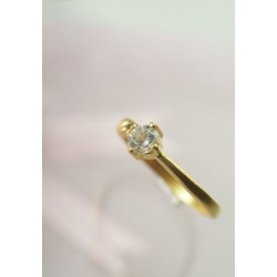 1pcs Diamond Silver/Gold Ring (Minimum 36pcs)