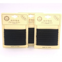 8pcs black hair band 6.5cm