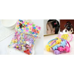 25pcs Assorted Elastic Rubber Hair Rope Band Ponytail Holder