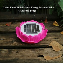 lotus lamp buddha solar energy machine with 49 buddha songs