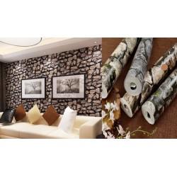Retro Culture Brick Stone Wallpaper 45cm*10meter