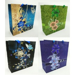 flowers paper gift bag (big)26*32*9.8cm