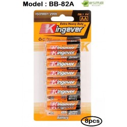 Kingever 8pcs AA Carbon Battery