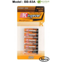 Kingever 8pcs AAA Carbon Battery