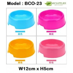 Economy Plastic Pet Round Single Bowl W12cm*H5cm