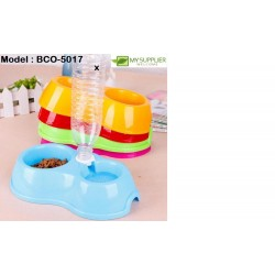 2In1 Pet Feeder Food And Water Bowl L24.5*W12*H6.5CM