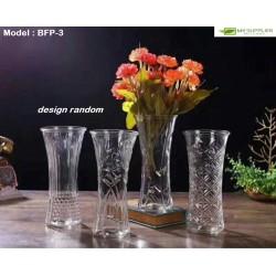 Glass Vase W9cmxH19.5cm (Random Design)