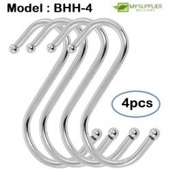 Stainless Steel S Shape Hook 7cm Set Of 4pcs
