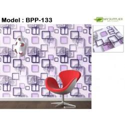 9113 3D Box Purple Tree Wallpaper W45cm*L10meter