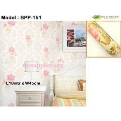 9177 Golden Hibiscus Wallpaper W45cm*L10meter