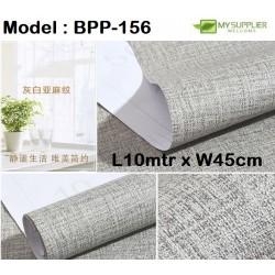 9183 Burlap Grey Wallpaper W45cm*L10meter
