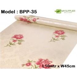 9002 Pink Lotus Flower Wallpaper W45cm*L10meter