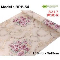 9006 45cm*10m± red flower beige wallpaper