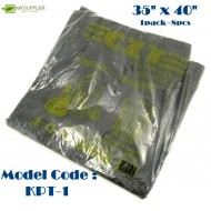 +-700g 8pcs HDPE Black Garbage Bag 35inch*40inch