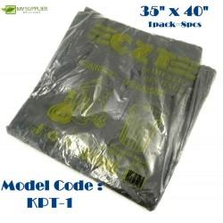 +-700g 8pcs HDPE Black Garbage Bag 35inch*40inch