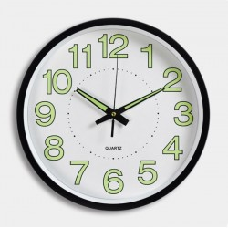 29cm Black Circle Round  Wall Clock Fluoresce