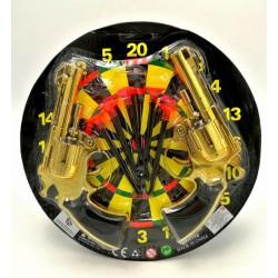 1110-a23 2pcs shoot gun + 5pcs bullets toys set