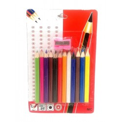 12 colour pencil+sharpener