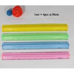 4pcs plastic ruler 30cm