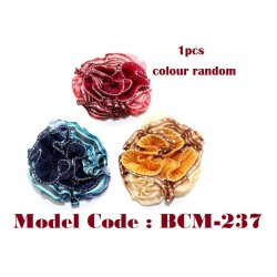 Flower Hair Scrunchies Elastic Large Circle Hair Ties Ropes