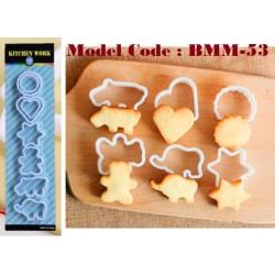 8pcs biscuit mould W5cm*H1cm