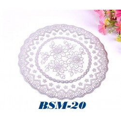 2in1 19.5*19.5cm sliver round table mats (s)