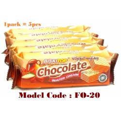 5in1 biskitop wafer cream chocolate 30g