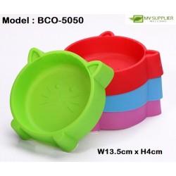 Plastic Cat Face Pet Bowl W13.5*H4CM