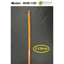 Long Wooden Broom Handle L120cm x W2.2cm