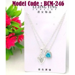 1set Crystal couple necklace