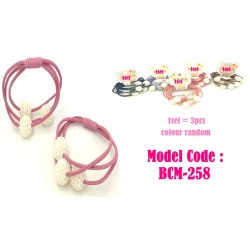 3in1 White Pearl Arbutus Ball Hair Band