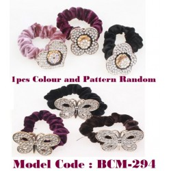 hairband with flower and butterfly design
