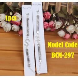 1pcs Alloy drill Bracelet-alphabet L20cm