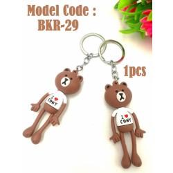 1pcs Rubber Cartoon Key Chain
