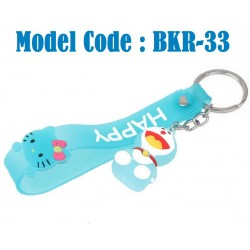1pcs Cartoon leather rope key chain