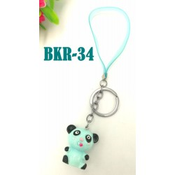 1pcs cartoon key chain with plastic rope