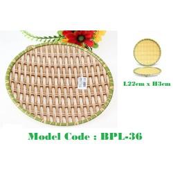 22cm Round Bamboo Melamine Plate