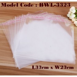 10IN1 Self Adhesive OPP Clear Transparent Plastic Packing Bag L33*W23CM