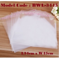 10IN1 Self Adhesive OPP Clear Transparent Plastic Packing Bag W34*L45CM