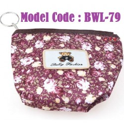 1pcs Flower Small Cotton Purse L12cm*W12cm*H3.5cm