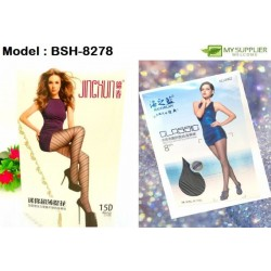 8278 Woman Stocking Panties - Black Colour